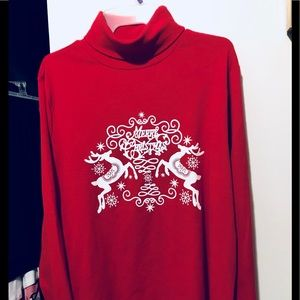 """""""Merry Christmas """"🎄 Red Turtleneck"""